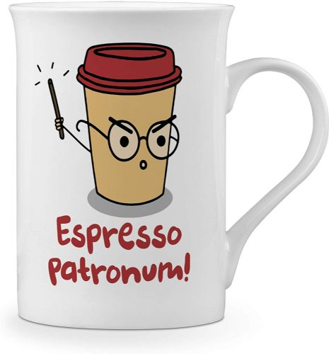 Espresso Patronum Funny Novelty Gift Fine Bone China Mug